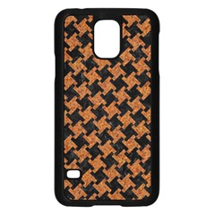 HOUNDSTOOTH2 BLACK MARBLE & RUSTED METAL Samsung Galaxy S5 Case (Black)
