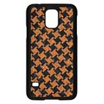HOUNDSTOOTH2 BLACK MARBLE & RUSTED METAL Samsung Galaxy S5 Case (Black) Front