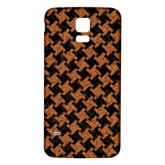HOUNDSTOOTH2 BLACK MARBLE & RUSTED METAL Samsung Galaxy S5 Back Case (White)