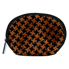 HOUNDSTOOTH2 BLACK MARBLE & RUSTED METAL Accessory Pouches (Medium)