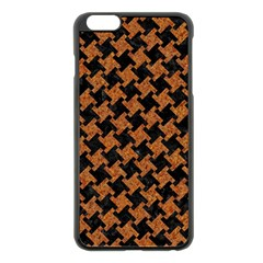 HOUNDSTOOTH2 BLACK MARBLE & RUSTED METAL Apple iPhone 6 Plus/6S Plus Black Enamel Case
