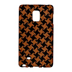 HOUNDSTOOTH2 BLACK MARBLE & RUSTED METAL Galaxy Note Edge