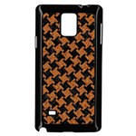 HOUNDSTOOTH2 BLACK MARBLE & RUSTED METAL Samsung Galaxy Note 4 Case (Black) Front