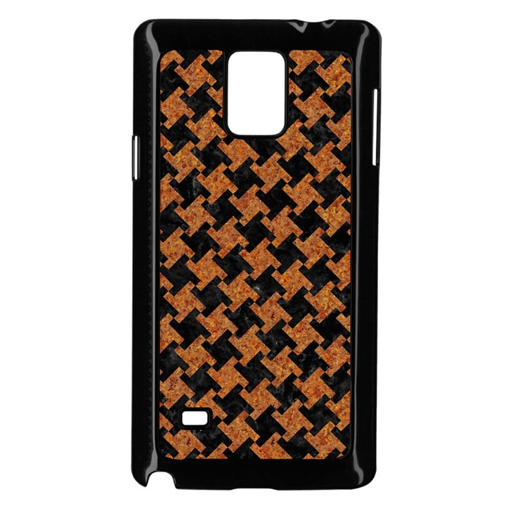 HOUNDSTOOTH2 BLACK MARBLE & RUSTED METAL Samsung Galaxy Note 4 Case (Black)