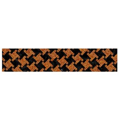 HOUNDSTOOTH2 BLACK MARBLE & RUSTED METAL Flano Scarf (Small)
