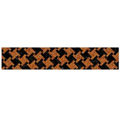 HOUNDSTOOTH2 BLACK MARBLE & RUSTED METAL Flano Scarf (Large)