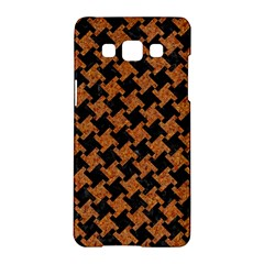 HOUNDSTOOTH2 BLACK MARBLE & RUSTED METAL Samsung Galaxy A5 Hardshell Case