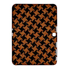 HOUNDSTOOTH2 BLACK MARBLE & RUSTED METAL Samsung Galaxy Tab 4 (10.1 ) Hardshell Case