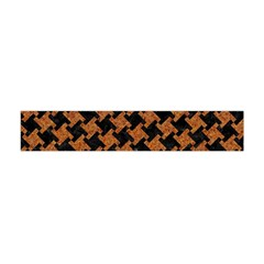 HOUNDSTOOTH2 BLACK MARBLE & RUSTED METAL Flano Scarf (Mini)