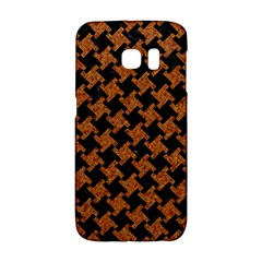 HOUNDSTOOTH2 BLACK MARBLE & RUSTED METAL Galaxy S6 Edge