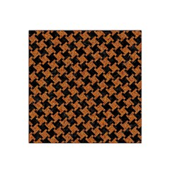 HOUNDSTOOTH2 BLACK MARBLE & RUSTED METAL Satin Bandana Scarf
