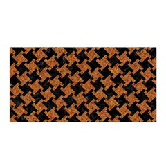 HOUNDSTOOTH2 BLACK MARBLE & RUSTED METAL Satin Wrap