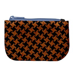 HOUNDSTOOTH2 BLACK MARBLE & RUSTED METAL Large Coin Purse