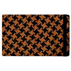 HOUNDSTOOTH2 BLACK MARBLE & RUSTED METAL Apple iPad Pro 12.9   Flip Case
