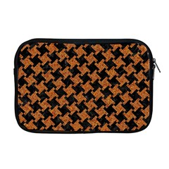 HOUNDSTOOTH2 BLACK MARBLE & RUSTED METAL Apple MacBook Pro 17  Zipper Case