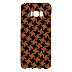 HOUNDSTOOTH2 BLACK MARBLE & RUSTED METAL Samsung Galaxy S8 Plus Hardshell Case