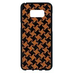 HOUNDSTOOTH2 BLACK MARBLE & RUSTED METAL Samsung Galaxy S8 Plus Black Seamless Case