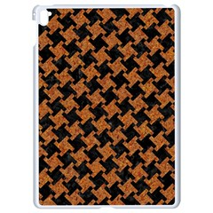 HOUNDSTOOTH2 BLACK MARBLE & RUSTED METAL Apple iPad Pro 9.7   White Seamless Case
