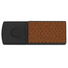 Hexagon1 Black Marble & Rusted Metal Rectangular Usb Flash Drive by trendistuff