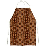 HEXAGON1 BLACK MARBLE & RUSTED METAL Full Print Aprons Front