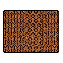 Hexagon1 Black Marble & Rusted Metal Fleece Blanket (small)