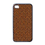 HEXAGON1 BLACK MARBLE & RUSTED METAL Apple iPhone 4 Case (Black) Front