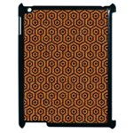 HEXAGON1 BLACK MARBLE & RUSTED METAL Apple iPad 2 Case (Black) Front