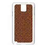 HEXAGON1 BLACK MARBLE & RUSTED METAL Samsung Galaxy Note 3 N9005 Case (White) Front