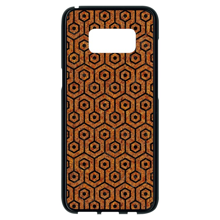HEXAGON1 BLACK MARBLE & RUSTED METAL Samsung Galaxy S8 Black Seamless Case