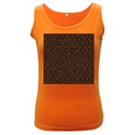 HEXAGON1 BLACK MARBLE & RUSTED METAL (R) Women s Dark Tank Top Front