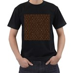 HEXAGON1 BLACK MARBLE & RUSTED METAL (R) Men s T-Shirt (Black) Front