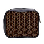 HEXAGON1 BLACK MARBLE & RUSTED METAL (R) Mini Toiletries Bag 2-Side Back