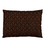 HEXAGON1 BLACK MARBLE & RUSTED METAL (R) Pillow Case (Two Sides) Back