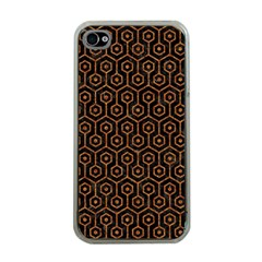 Hexagon1 Black Marble & Rusted Metal (r) Apple Iphone 4 Case (clear) by trendistuff