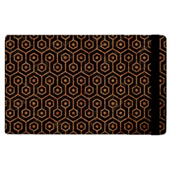 Hexagon1 Black Marble & Rusted Metal (r) Apple Ipad 2 Flip Case by trendistuff