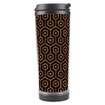 HEXAGON1 BLACK MARBLE & RUSTED METAL (R) Travel Tumbler Left