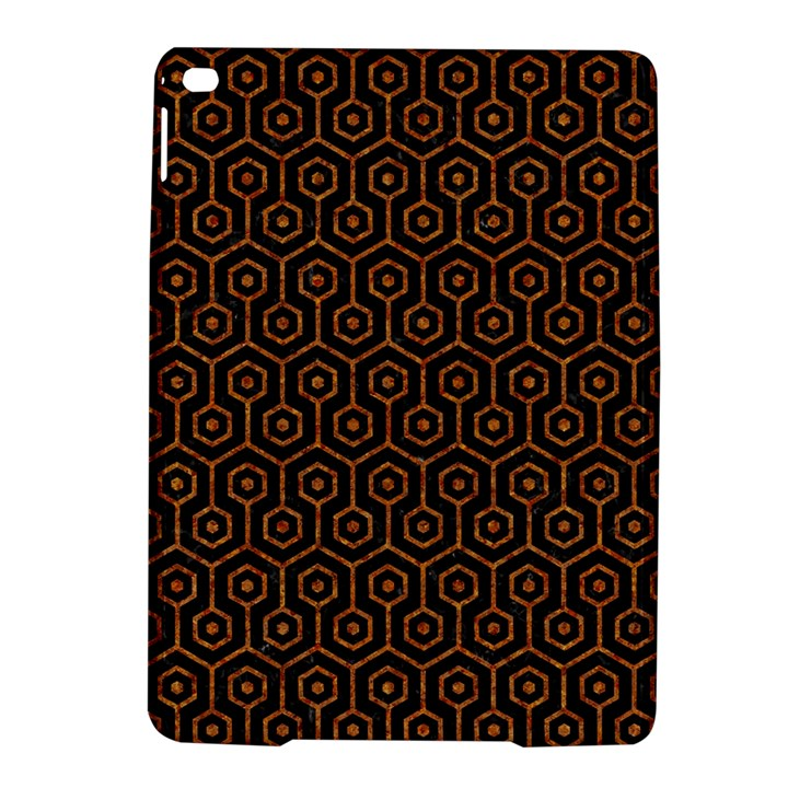 HEXAGON1 BLACK MARBLE & RUSTED METAL (R) iPad Air 2 Hardshell Cases