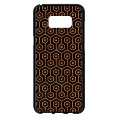 Hexagon1 Black Marble & Rusted Metal (r) Samsung Galaxy S8 Plus Black Seamless Case by trendistuff