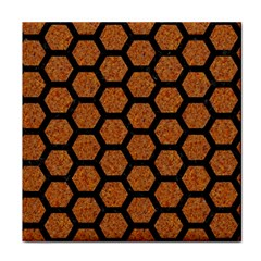 Hexagon2 Black Marble & Rusted Metal Tile Coasters by trendistuff