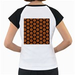 HEXAGON2 BLACK MARBLE & RUSTED METAL Women s Cap Sleeve T Back