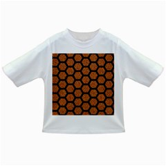 Hexagon2 Black Marble & Rusted Metal Infant/toddler T Shirts by trendistuff