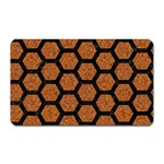 HEXAGON2 BLACK MARBLE & RUSTED METAL Magnet (Rectangular) Front
