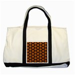 HEXAGON2 BLACK MARBLE & RUSTED METAL Two Tone Tote Bag Front