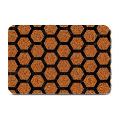 Hexagon2 Black Marble & Rusted Metal Plate Mats by trendistuff