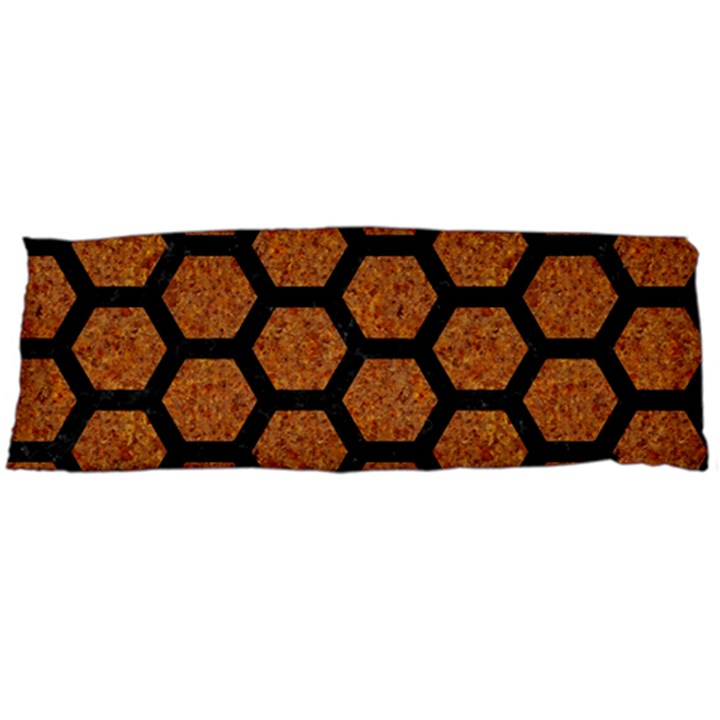 HEXAGON2 BLACK MARBLE & RUSTED METAL Body Pillow Case Dakimakura (Two Sides)