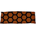 HEXAGON2 BLACK MARBLE & RUSTED METAL Body Pillow Case Dakimakura (Two Sides) Back