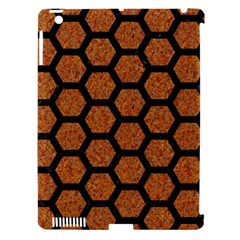 Hexagon2 Black Marble & Rusted Metal Apple Ipad 3/4 Hardshell Case (compatible With Smart Cover) by trendistuff