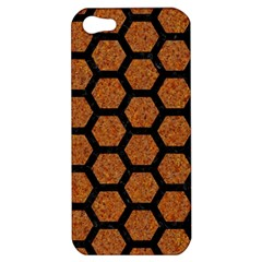 Hexagon2 Black Marble & Rusted Metal Apple Iphone 5 Hardshell Case by trendistuff