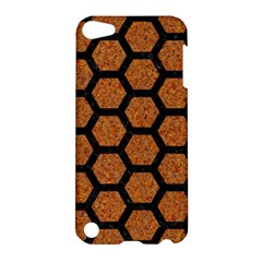 Hexagon2 Black Marble & Rusted Metal Apple Ipod Touch 5 Hardshell Case by trendistuff