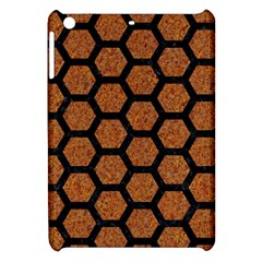 Hexagon2 Black Marble & Rusted Metal Apple Ipad Mini Hardshell Case by trendistuff